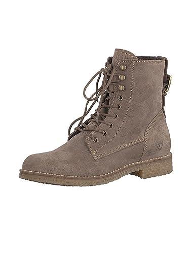 Tamaris Leder Schnürstiefelette Boots Grau Braun 1 25275 29