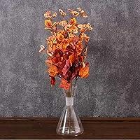 Yedifil Büyük Kuru Yaprak Yapay Çiçek 52 cm - Turuncu