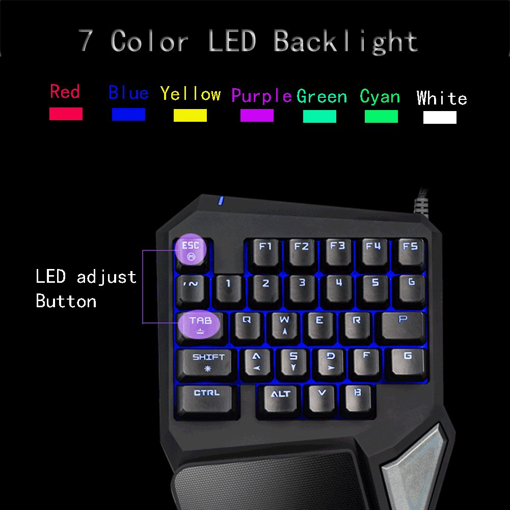 Magical Led Computer Gaming Keyboard Globalama Gk0001 Beat Box Wiring Diagram 2017 New Design Pc Portable Wired Usb Black Ergonomic Game Keypad Including 7 Colors