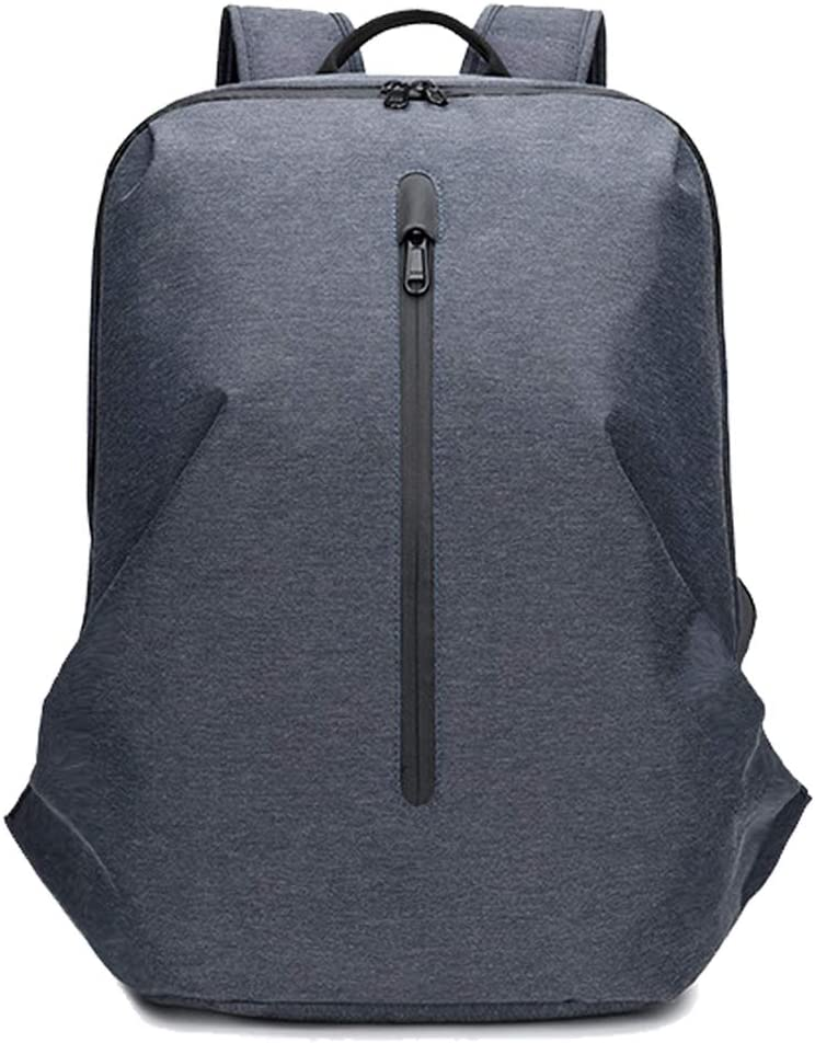 Unisex Oxford Chargeable Backpack Casual Backpack Business 17inch Laptop Backpack Dark-Grey