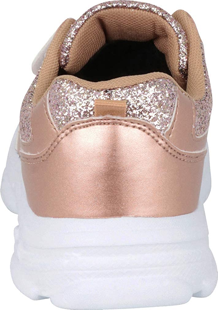 Toddler//Little Kid//Big Kid Cambridge Select Girls Lace-Up Strap Glitter Fashion Sneaker