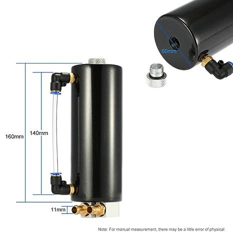 KKmoon Depósito Universal Aluminio Tanque de Aceite Motor Carreras de Coche Turbo Kit: Amazon.es: Coche y moto