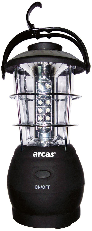 Arcas 30720007 LED Camping Laterne, 30 LED, schwarz