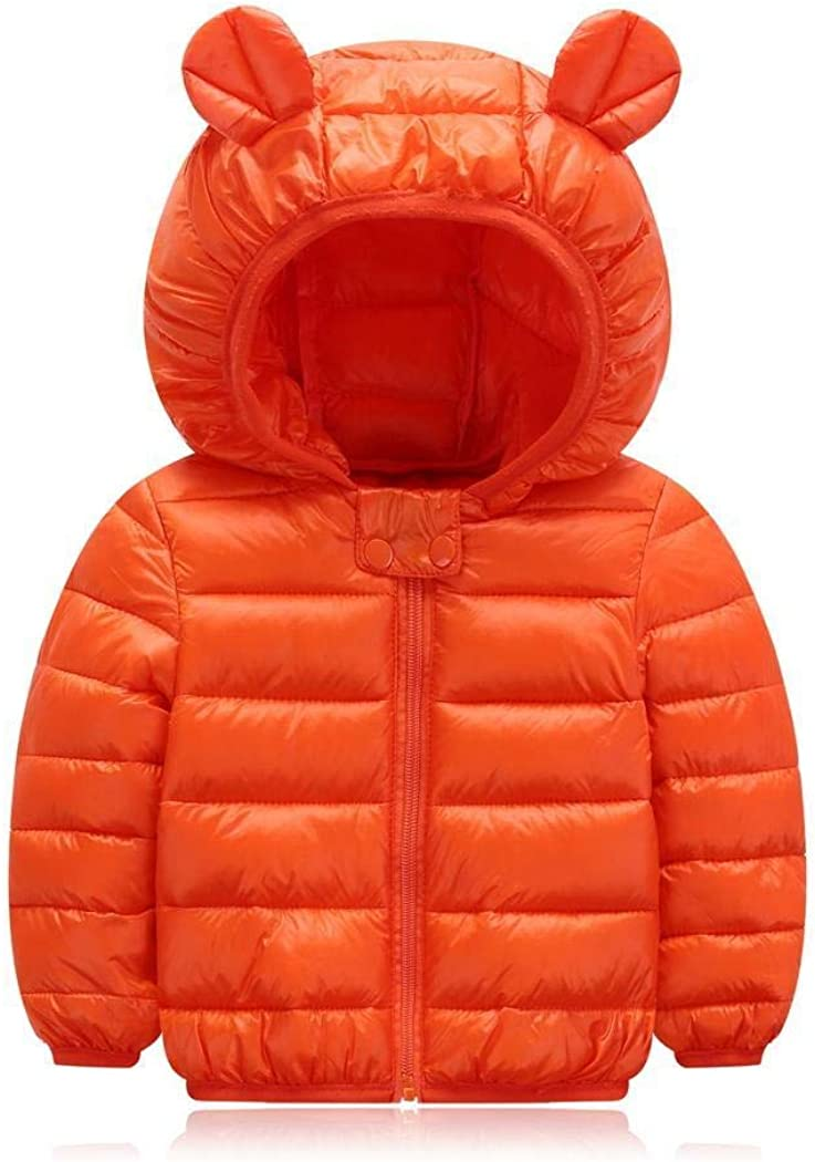 Light Puffer Jacket Padded Wenirn Baby Winter Coats for Kids Toddlers with Hoods