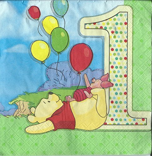 (Disney Pooh and Pals 1st Birthday Lunch Napkins)