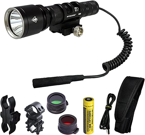 Nitecore MH25GT 1000 Lumens 494 Yards Rechargeable Hunting Light Kit for Hog