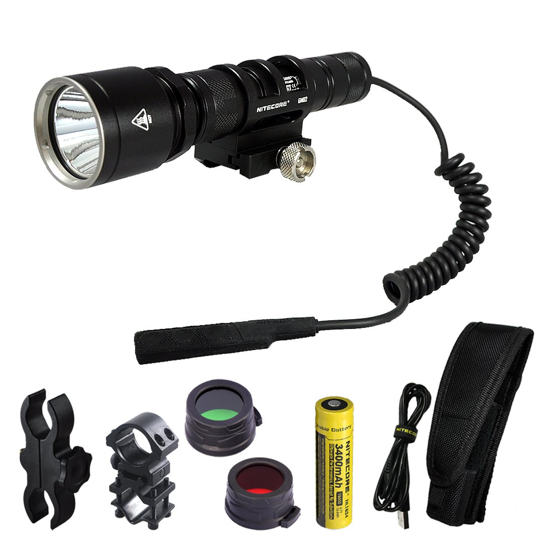 Nitecore MH25GT 1000 Lumens 494 Yards Rechargeable Hunting Light Kit for Hog, Coyote, Varmint and Predator Hunting by Nitecore