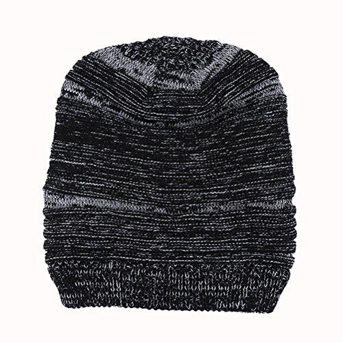 Women's Warm Winter Black Thick Slouchy Cable de Beanie Men's Cap Ski Hat Zhhlaixing Gorros punto Knit Skull wB7XnqI