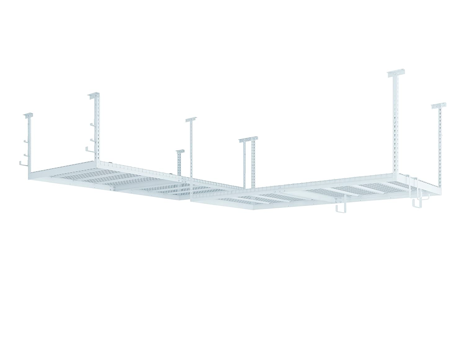 NewAge Products 40237 VersaRac 2 Overhead Rack and 10 Piece Accessory Kit, Garage Overheads, White NewAge Products Inc.