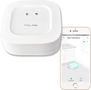 YoLink Water Leak Sensor, 1/4 Mile World's Longest Range Smart Home Wireless Water Leak Sensor Compatible with Alexa IFTTT, Water Leak Detector with App Alerts and Remote Monitor - YoLink Hub Required