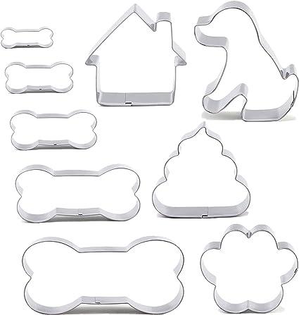"""3.5/"""" DU CHIEN OS Cookie Cutter Blanc 8.9 cm"""