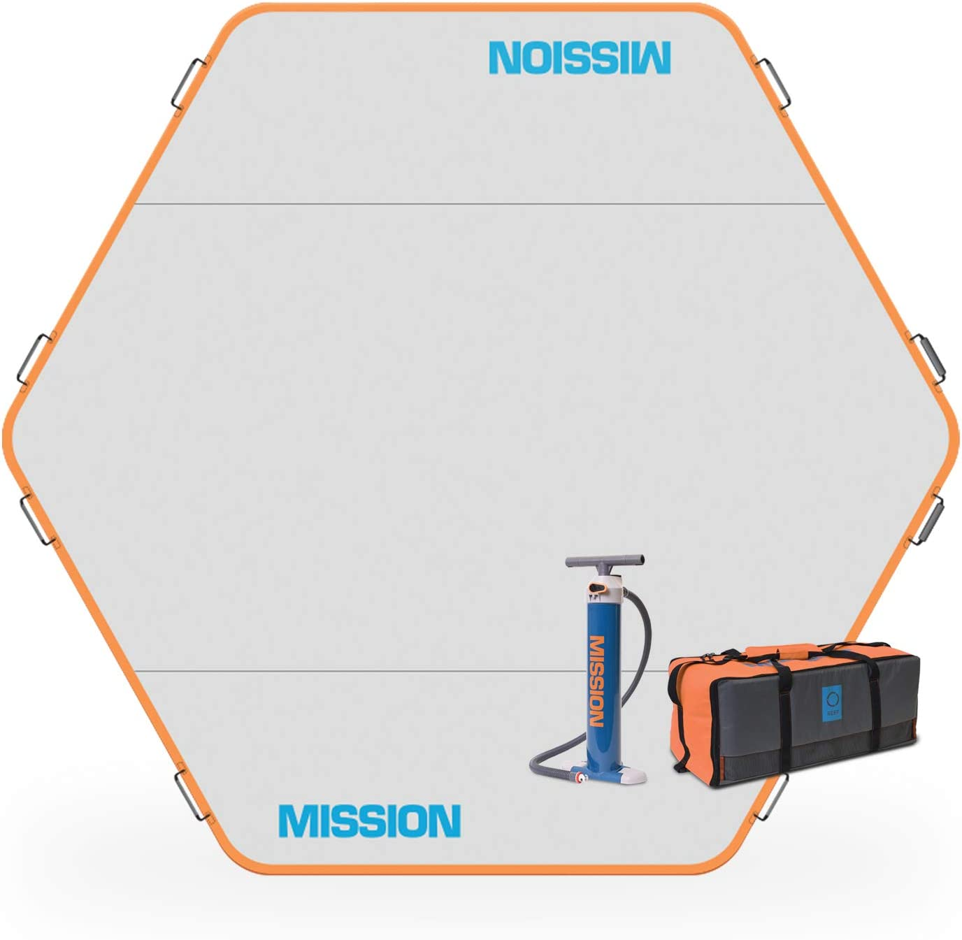 mission hex shaped inflatable dock