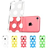 ESR the Beat Series Hard Clear Back Cover Snap on Case for iPhone 5C (Polka Dots)