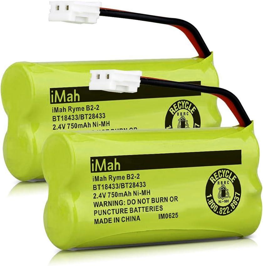 Pack of 3 BT18433 BT28433 BT184342 BT284342 BT183348 BT283348 BT-1011 Replacement Battery Compatible for Vtech Phone CS6209 CS6219 CS6229 DS6151 89-1330-01-00 CPH-515D OXWINOU