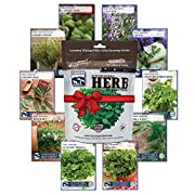 Most POPULAR GOURMET herbs:Basil, Chives, Cilantro, Dill, Lavender, Oregano, Parsley, Rosemary, Sage, and Thyme!***Some of the above varieties of seed may be substituted, but are in the same family.