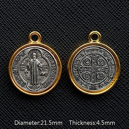 Trés belle Médaille de Saint Benoit de Nursie Patriarche des Moines d'Occident