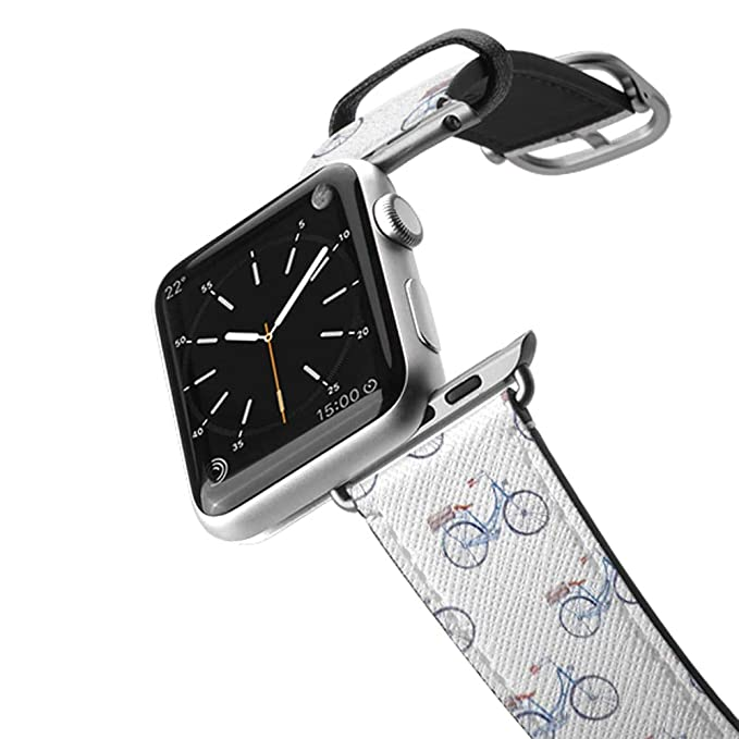 100% authentic 74d84 735fc Casetify Bands Compatible for Apple Watch Bands 38mm 42mm with Silver  Stainless Steel Buckle Replacement Band for iWatch Apple Watch, Series 4,  Series ...