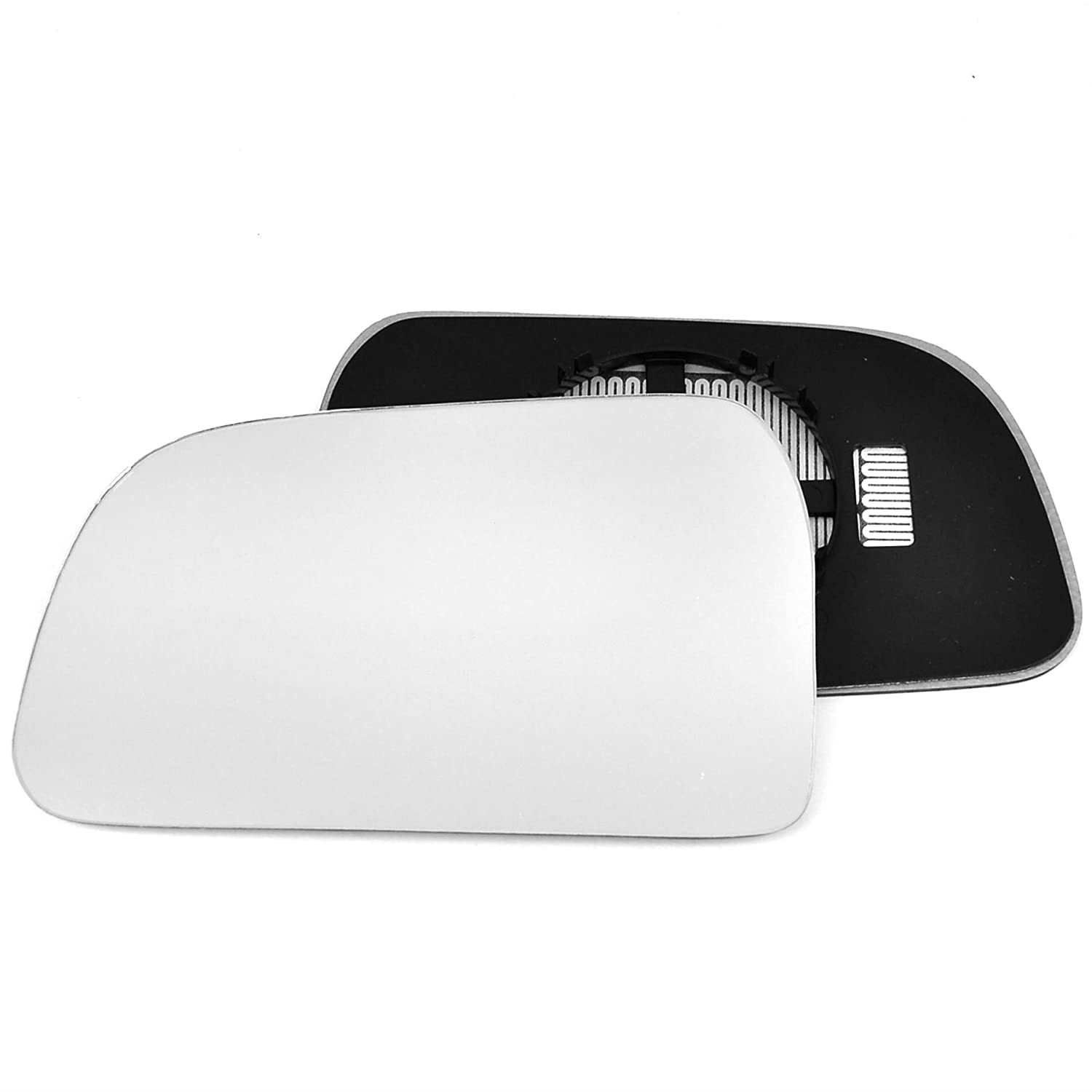 Passenger left hand side Heated wing door Silver mirror glass with backing plate #C-SHY//L-HITSN04 Clip On