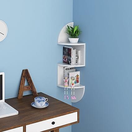 Amazon.com: Fan-Shaped Partitions Living Room Corner Rack Bedroom ...
