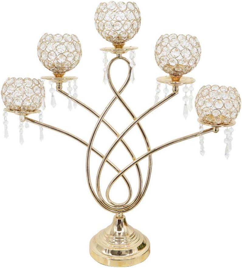 キャンドルホルダー クリスタルローソク足装飾金属キャンドルホルダーレストラン装飾センター 結婚式や家の装飾用