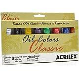 Estojo Tita Óleo Classic Colors Acrilex com 8 Bisnagas 20ml