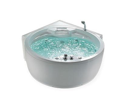 Vasca Da Bagno Angolare Chiusa : Whirlpool vasca da bagno florence mit 14 ugelli per massaggio
