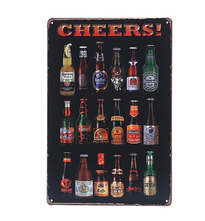 kentop Cartel de chapa Cartel para pared cerveza publicidad ...