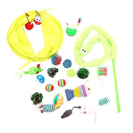 Amazon.com: Eugenelo - Juego de juguetes para gatos ...
