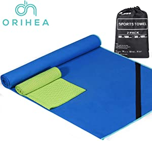 PaiTree Microfiber Towel for Travel, Camping, Beach, Bath, Fast Drying - Super Absorbent - Portable &Idea for Indoor and Outdoor Sports Gym, Fitness, Golf, Yoga, Hiking, Bowling