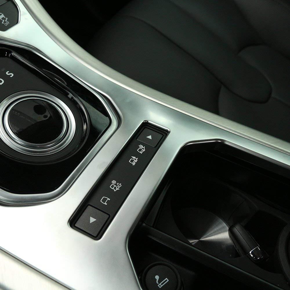 MAVMAX Consola Central Panel de Engranajes ABS Cromado Cubierta Decorativa Ajuste para Land Rover Range Rover Evoque 2012-2018