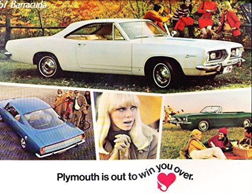 - 1967 Plymouth Barracuda 12-page Car Sales Brochure Catalog - Convertible