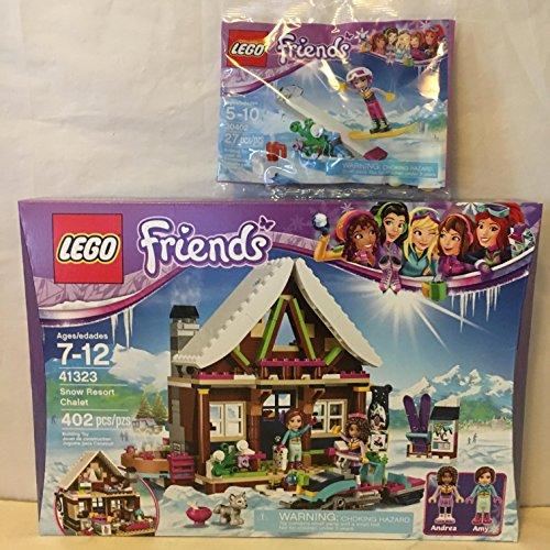 LEGO Friends Snow Resort Chalet & LEGO Friends Snowboard Tricks Husky Stacking Chair