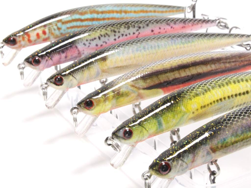 wLure Lifelike Minnow Crankbait for Bass Fishing Bass Lure Fishing Lure HM616KB by wLure