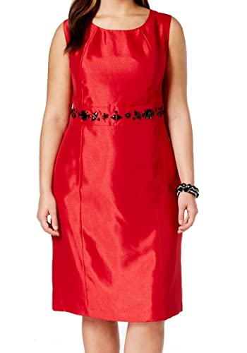 Kasper Women's Shiny Shantung Sheath Dress