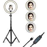 "Gugusure Ring Light, 10"" Led Ring Light with Tripod Stand & Phone Holder for Live Stream/Make Up/YouTube, Selfie Ring…"