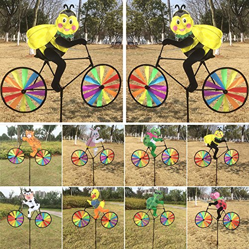 Delight Eshop 3d Animal On Bike Windmill Wind Spinner