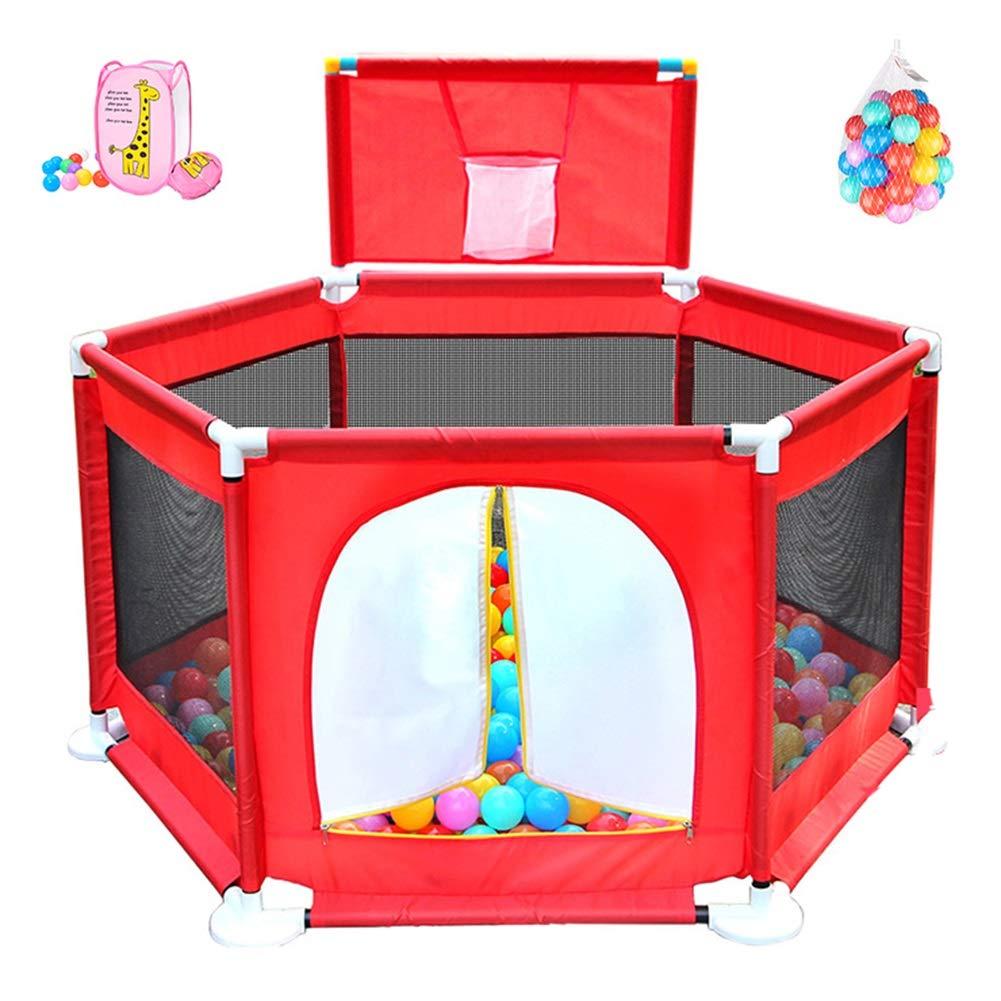 【高い素材】 ベビーサークル, ポータブル安全ベビープレイヤード200ボールと撮影 高さ66cm、赤いプラスチックのプレイペン幼児のためのゲート - - 高さ66cm B07JM3VH8N, ナカイマチ:75f343d2 --- a0267596.xsph.ru