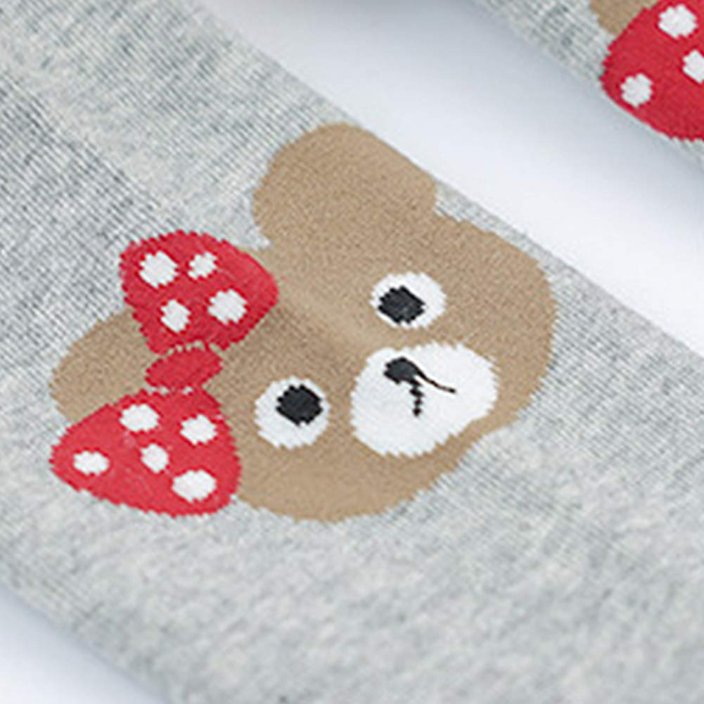 4 Pack Baby Girls Tights Print Knit Cotton Cute Bear Pantyhose Leggings Pants Stockings 80-140cm