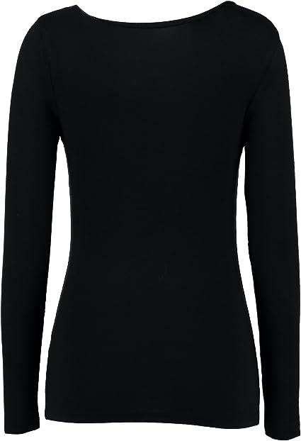 Rubyred ThermaRED Damen-Langarm-Top aus Microfaser Leichtes Thermounterw/äsche weiches warmes T-Shirt