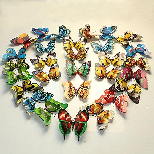 Money coming shop 12Pcs/Lot 3D PVC Magnet Double Butterflies Fridge Magnet DIY Wall Sticker Home Decor New - Shops Mile Vegas
