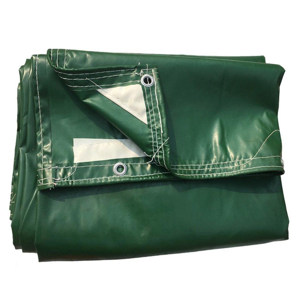 PENGFEI トラック オーニング 防水 ピクニックマット 雨布 防塵の 植物 日焼け止め シェード 断熱材、 -500g / m 2、 9サイズのオプション ( 色 : 緑 , サイズ さいず : 3 x 8m ) B07BTKF6GT  緑 3 x 8m