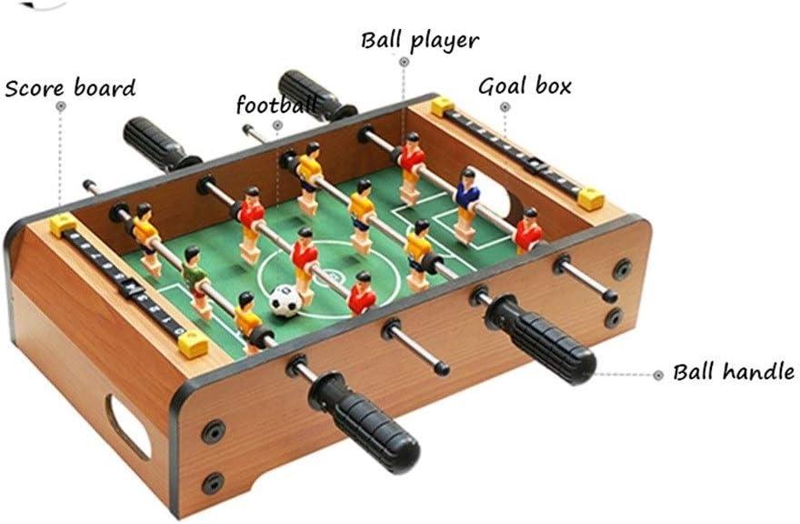 Futbolines Juguetes Mejor Regalo del fútbol de la Tabla Mesa de la máquina Mesa de fútbol Doble Rompecabezas Juego de Mesa Infantil for niños (Color : Brown, Size : 50 * 25 * 15.5cm): Amazon.es: Hogar