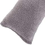 """Body Pillow Cover. Sherpa with side zipper by Lavish Home – 18 """"x52"""" (Grey)"""