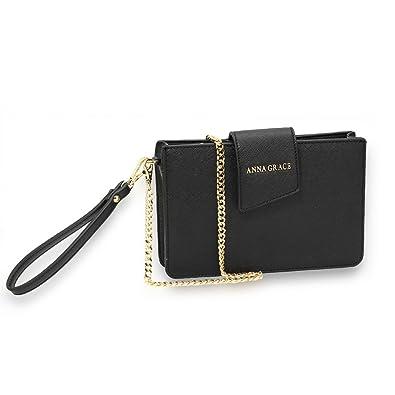 LeahWard Women/'s Faux Leather Round Shape Clutch Wrist Strap Bag Wedding Party H