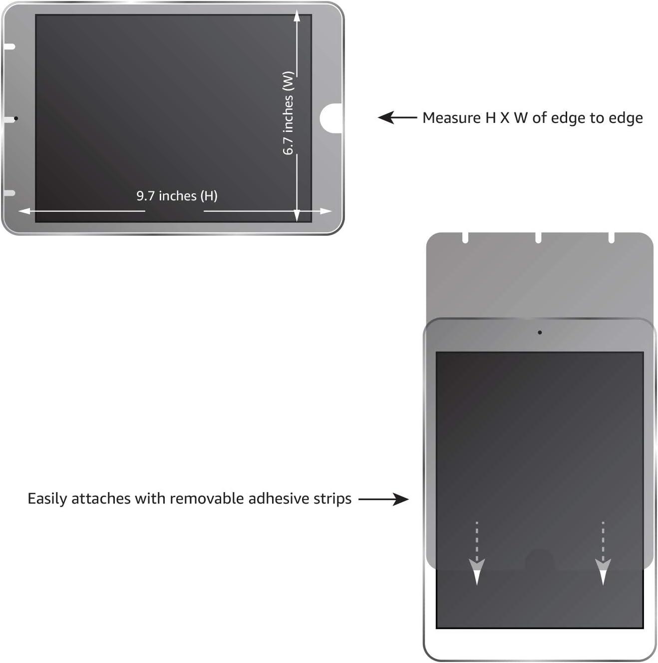 AmazonBasics - Pantalla de privacidad delgada para iPad Pro ...