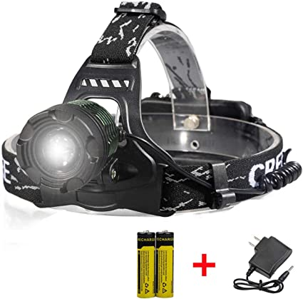 LED Super Bright LED 3 AAA Headlight Power Light Beam