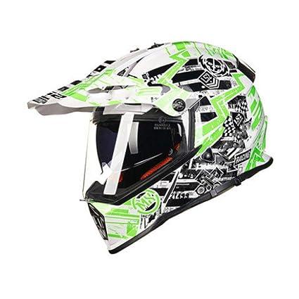 YSH Casco De Motocicleta Flip Up Moto Casco Moto De Cara Doble Lente Doble con Casco
