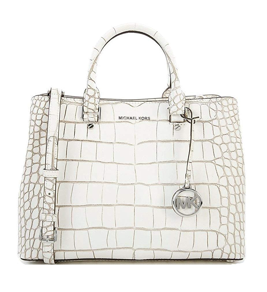 a4fe7f97bf78 Amazon.com: Michael Kors Savannah Large Satchel Embossed Leather: Shoes