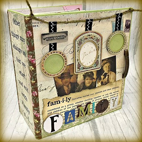 FAMILY Chipboard Scrapbook Scrapbooking Mini Album