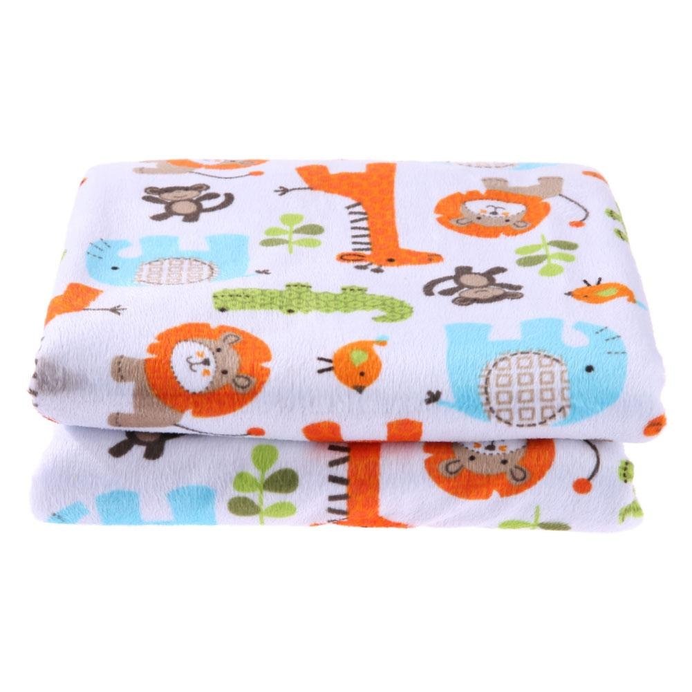 amazingdeal Baby Blanket, Infant Comfortable Stroller Cute Winter Warm Bedding Swaddling Blanket(Zoo)